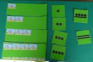 Tarjetas con números mayas