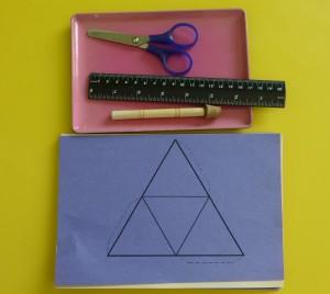 Plantilla para crear un pirámide
