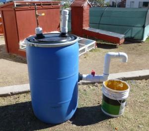 Biodigestor, que proporciona gas metano