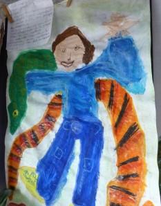 Después de la clasificación animal cada niño dibuja y describe su animal favorito