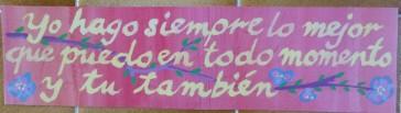 en una pared... en una escuela... en algún lugar de México