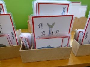 Caja con cada uno de los compartimentos de la nomenclatura