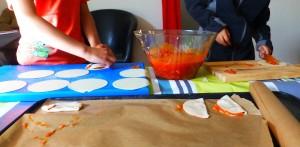Haciendo las empanadillas