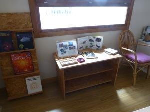 Y mesa de observación, que ahora tiene a los escarabajos